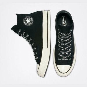Size 8 Gore-Tex Converse Chuck 70s High Top Black